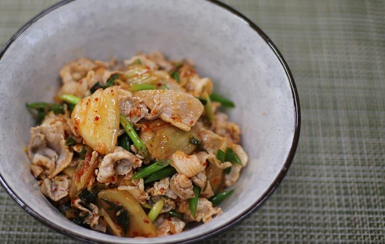 Pork kimchi