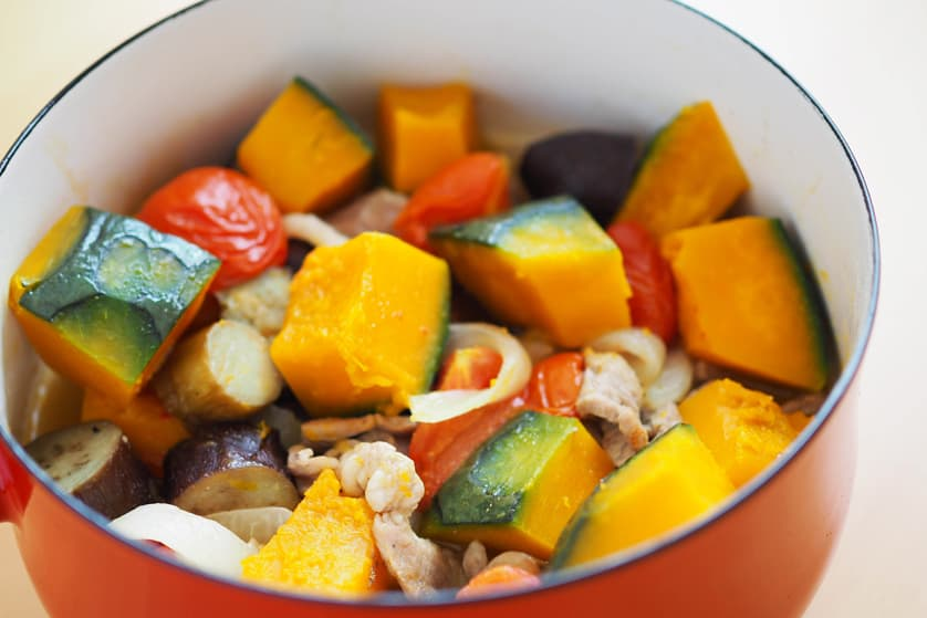 かぼちゃと秋野菜 肩ロース肉のラタトゥイユ