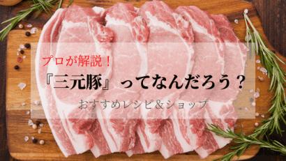 豚肉のプロが「三元豚」を世界一わかりやすく解説!レシピやお店の紹介も!
